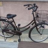『リサイクル自転車 26インチ軽快車 ブラウン』の画像