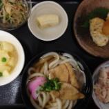 『今日の桜町の昼食(きつねうどん)』の画像