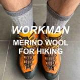 『【ワークマン】これは完璧に登山用靴下…メリノウール フルパイルソックス。』の画像