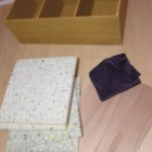 『ベンチを設置…というか作りました:フィッティングルーム準備中③』の画像