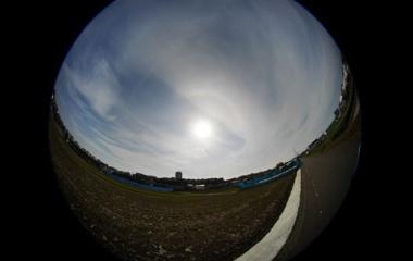『LAOWA4mm円周魚眼レンズによる3/27日暈 2021/03/27』の画像