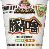 『【カップラーメン】日清カップヌードル スーパー合体シリーズ 味噌&旨辛豚骨』の画像