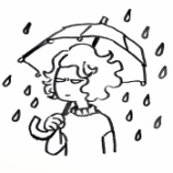 『傘さし 湿気に嫌気さし』の画像