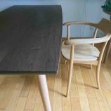 『高松市の柏木工・シビルダイニングテーブルと飛騨産業・クレセントアームチェアを納品』の画像