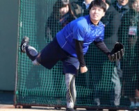 阪神馬場ブルペン初投げ 感覚起こす意図ある30球