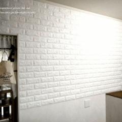 お客様のビフォー・アフター♪レンガの風合いで壁がレベルアップ「クッションシート」