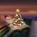 マイクラでクリスマスツリーを作ってみる…のはずだった