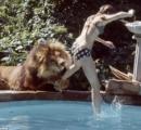 ライオンをペットにしていた14歳少女の生活が凄い やっぱネコ科だから普通に猫みたいになつくな