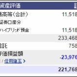 『週末(8月5日)の保有資産。2億2176万8813円』の画像