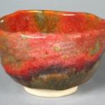 金田充夫 赤いぐい呑みと茶碗の陶芸家