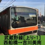『武蔵野線 車窓[上り・1]西船橋→吉川美南』の画像