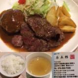 『【ランチ部】洋食の店 辰五郎『コンビネーションランチ(ハンバーグステーキと牛肉の照り焼きステーキ)』』の画像