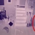 監視カメラがとらえた動き回る子供とペットの霊。