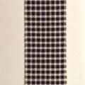 手染め糸の浮き織りマフラー(格子)