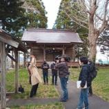 『比遅里神社の地は三陵郭か?STVが取材』の画像