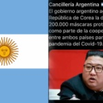 アルゼンチンがやらかす!「韓国のマスクに感謝」ツイートの添付画像に「金正恩」