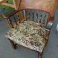 カリモク家具 座面張替え 籐張替えです。