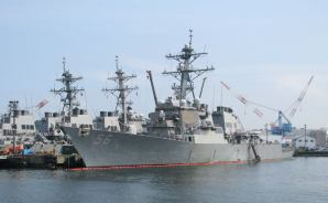横須賀の軍港をめぐる遊覧船に乗って