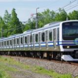 『【成田線120周年記念】スカ色のE231系 運転中』の画像
