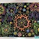 『花の季苑/『スクラッチアート』をしました!』の画像