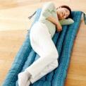 サラリとした綿しじら織りの凹凸感が心地いいごろ寝長…