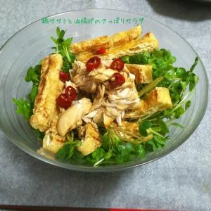 とっても食べやすい♪鶏ササミと油揚げのさっぱりサラダ