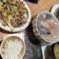 秋刀魚 肉野菜炒め 市販納豆 昨日の残りのおでん