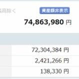 『【運用状況】2021年1月の資産総額は7486万円でした!』の画像