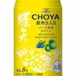 『本格梅酒にジュニパーベリーを漬け込んだ「The CHOYA 銀座BAR ジンな梅酒カクテル」』の画像